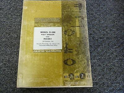 International Hough Model D500 Paydozer Dozer Parts Catalog Manual Book