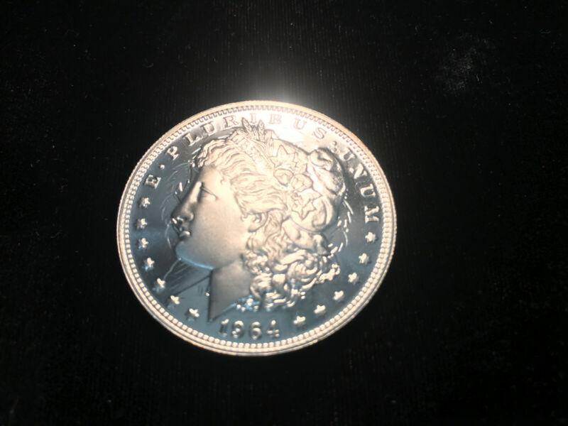 Daniel Carr 1964-D PROOF CLASHED Die High-Grade Morgan Silver Dollar