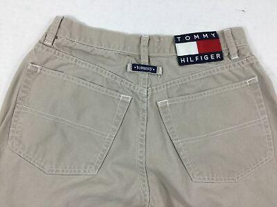Vintage Tommy Hilfiger Khaki Jeans Pants 7 Womens Juniors Spellout Cotton 7 Jeans Womens Juniors Pants