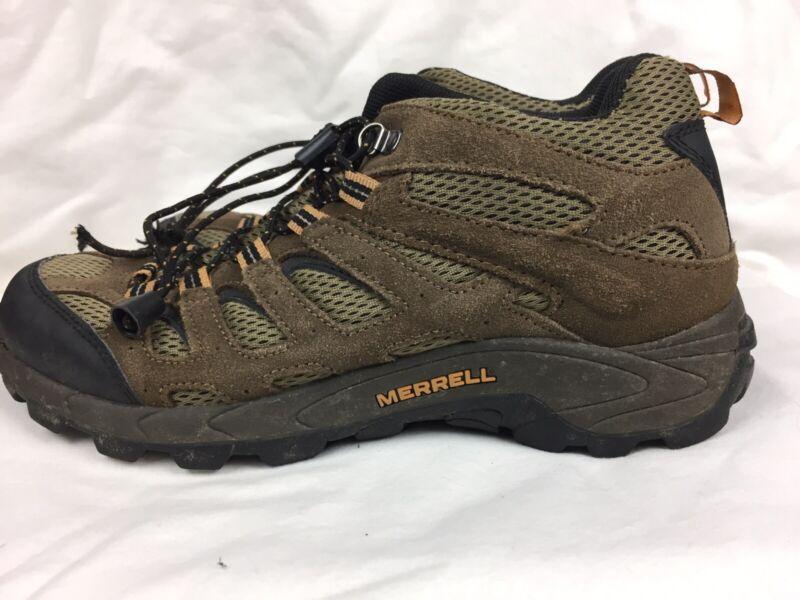 Merrell Moab Ventilator Youth Size US 6 EU 37 Mid Walnut Hiking Sneaker Boots