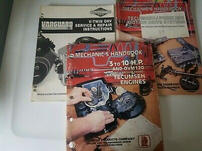 Tecumseh Mechanics Handbooks Engine Motion Drive System Briggs Stratton