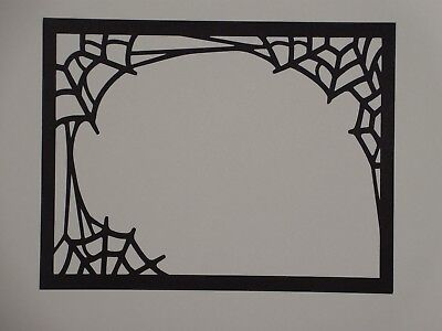 2 Spider web frame overlay for A2 greeting card die cut