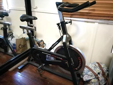 Spin bike exercise fitness