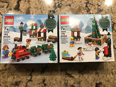 LEGO Christmas 40263 Town Square Tree 40262 Train Ride Lot New Holiday Seasonal