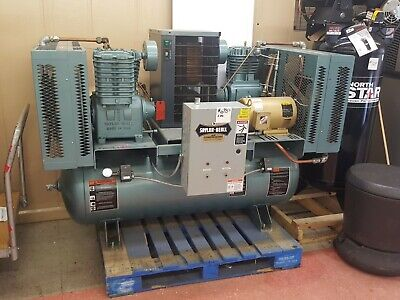 Saylor-beall X-735-80-icd Two-stage 5hp Duplex Air Compressor With Dryer 3 Phase