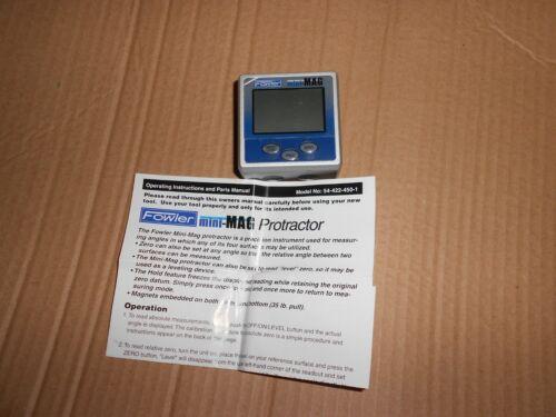 Fowler, 54-422-450-1 Mini-Mag 360 Degree Protractor