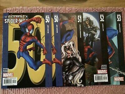 Ultimate Spider-Man Lot 50 50 51 52 53 Ultimate Black Cat Unread Copies VF/NM