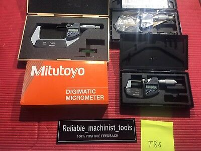 Excellent Mitutoyo 0-3 Digital Coolant Proof Ip65 Outside Micrometer .00005 T86