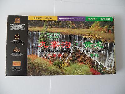 21 x Unused Postcards Jiuzhai Valley Huanglong Sichuan China World Heritage Site