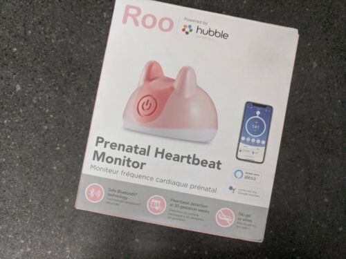 Roo Prenatal Heartbeat Monitor Powered by Hubble Connected Alexa Google Asst