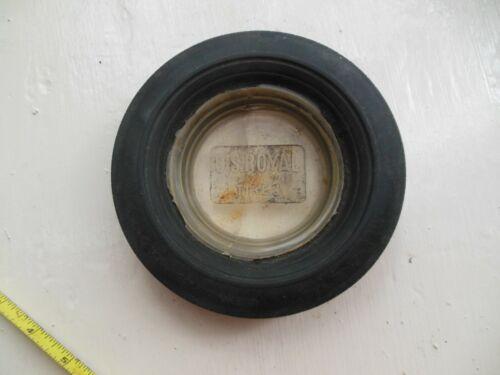Vintage US Royal Master Tire Ashtray Glass Insert Advertising