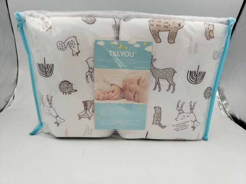 "TILL YOU Baby Safe Microfiber Breathable Crib Bumper (9.5x27"") (9.5x52"")NEW"