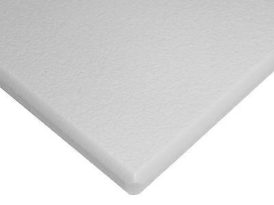 White Seaboard Hdpe Polyethylene Plastic Sheet 12 X 24 X 48 Textured