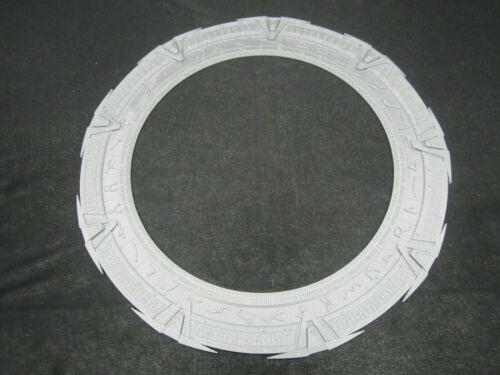 """Stargate SG-1 Chevron Ring (Stargate Model) Silver Finish 12"""" Diameter"""