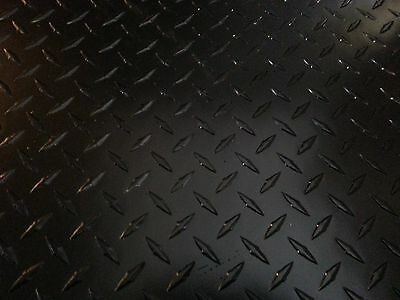 .063 Matte Black Powdercoated Aluminum Diamond Plate Sheet 6 X 12