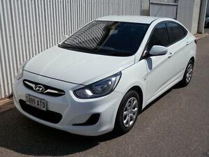 2013 HYUNDAI Accent ACTIVE 4 Door Sedan Blair Athol Port Adelaide Area Preview