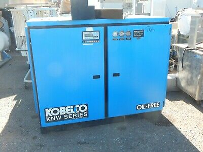 Kobelco Knw 0-dh Rotary Screw Air Compressor Two Stage 100 Hp Oil Free - Used