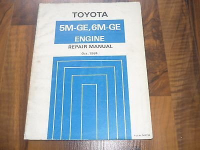 TOYOTA ENGINE 5M-GE 5M-GE Celica Supra General REPAIR MANUAL WERKSTATTHANDBUCH