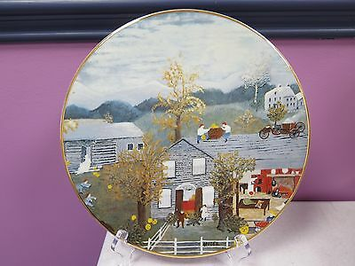 COLLECTOR PLATE ~ GRANDMA MOSES ~ HALLOWEEN EDITION 1981 ~ ARTIST PROOF!! *RARE*