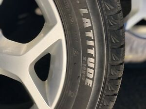 Michelin latitude x-ice winter tires on BMW alloy rims
