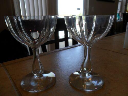 TEN RARE MOSER GLASS QUATREFOIL IRIDESCENCE HOLLOW STEM WINE GLASSES 1890-1920s