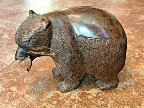 Ironwood GRIZZLY BEAR Carving