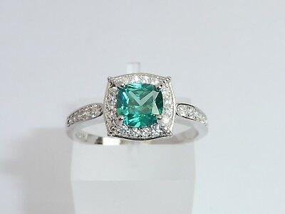 Damen, 925 Sterling Silber Farbwechsel Granat und weißer Saphir, Ring ()