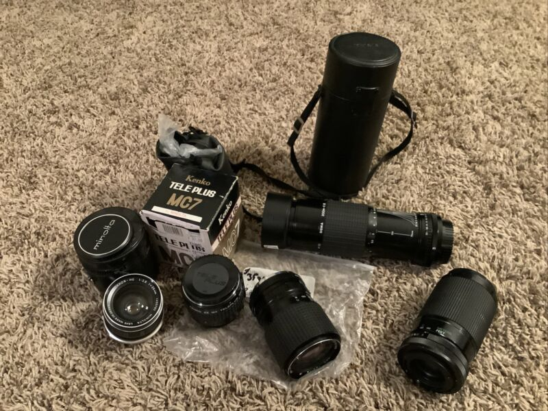 Lot Of Minolta And Konica Lenses