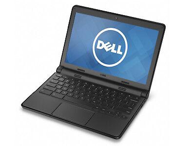"Dell Chromebook 11 Netbook Intel Celeron 4GB 16GB SSD 11.6"" HDMI Chrome OS Grd B"
