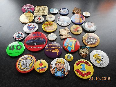 30 VARIOUS PIN BADGES