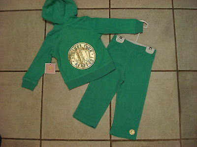 JUICY COUTURE $68 GIRLS INF - 2PC JOG SET-TERRY  SIZE-18/24M