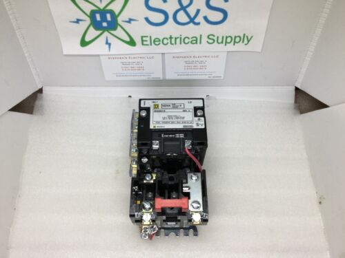 Square D 8536SBO1S 2 Pole 240 Vac Size 0 New Motor Starter w/120 Vac Coil