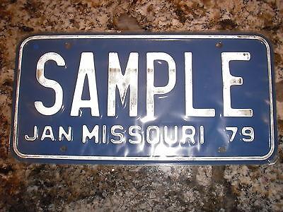 1979 MISSOURI SAMPLE LICENSE PLATE SAM PLE