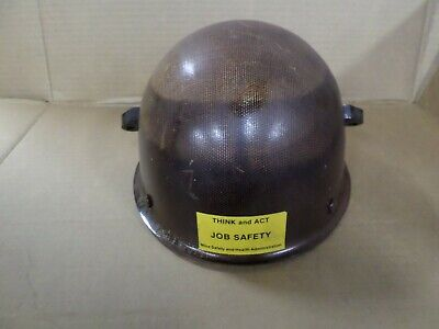 Vintage Msa Protective Hat Cap - Brown Hard Hat