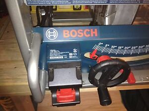 bosch GTS 1031 table saw 15A 5000 rpm..