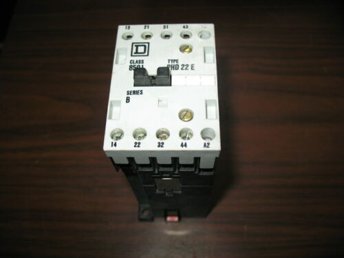 Square D 8501 PHD 22E 4 Pole Relay with 24 VDC Coil