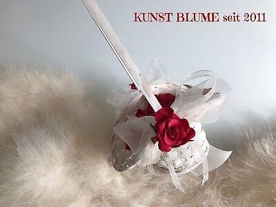 Mini Streukörbchen Korb Blumenkorb mit Streublumen Rot Hochzeit Blumenmädchen