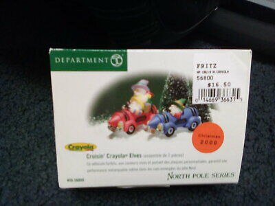 Department 56 North Pole Series Cruisin' Crayola Elves 56800 Retired NEW in BOX 56 North Pole Series