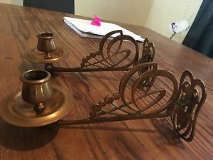 Pair of Piano candleholders Stoneville Mundaring Area Preview
