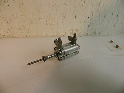 Festo Compact Pneumatic Cylinder, ADVU-16-20-PA-S2, 20mm Stroke, W/ Limits, Used