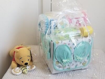 Alphabet Baby Block Diaper Cake Baby Shower Gift Set Basket Centerpiece](Baby Shower Diaper Cake)