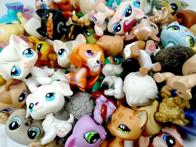 Littlest Pet Shop Random lot of 10 mixed pets