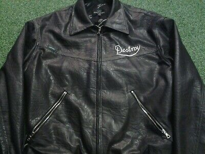 John Richmond Destroy vintage leather jacket