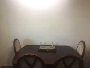 Hardwood Dining Table with six chairs
