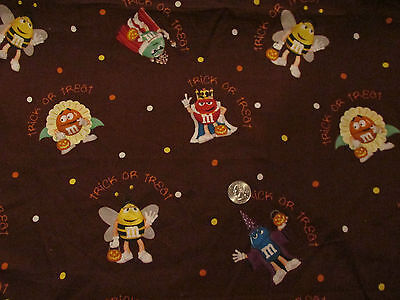M&M Candy fabric HALLOWEEN cute Fun & Scary costumes quilting cotton