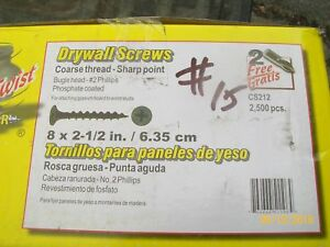 2 1/2 inch drywall screws