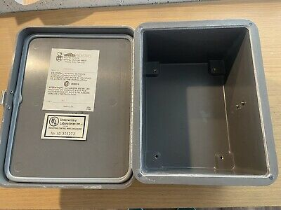 Stahlin Electrical Fiberglass Enclosurebox J806hll 8x6x4 Fg Hll Fast Shipping