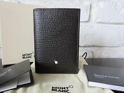 Mont Blanc Meisterstuck Wallet - Montblanc Meisterstuck Business Card Holder Wallet Gusset Brown Italy, NWT