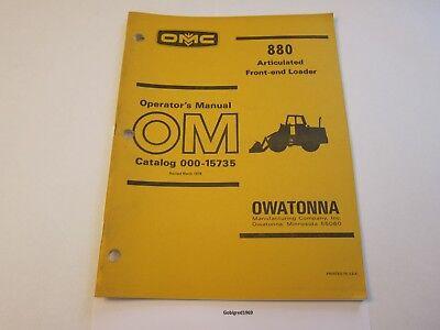 Original Omc 880 Front End Loader Operators Manual Lots More Listed Lg6
