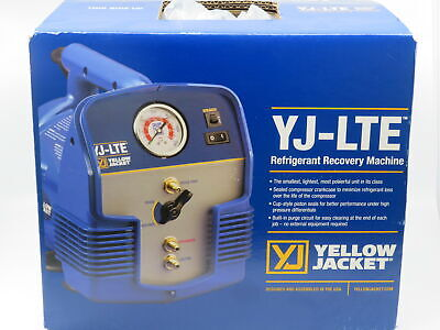 Yellow Jacket Refrigerant Recovery Machine Yj-lte